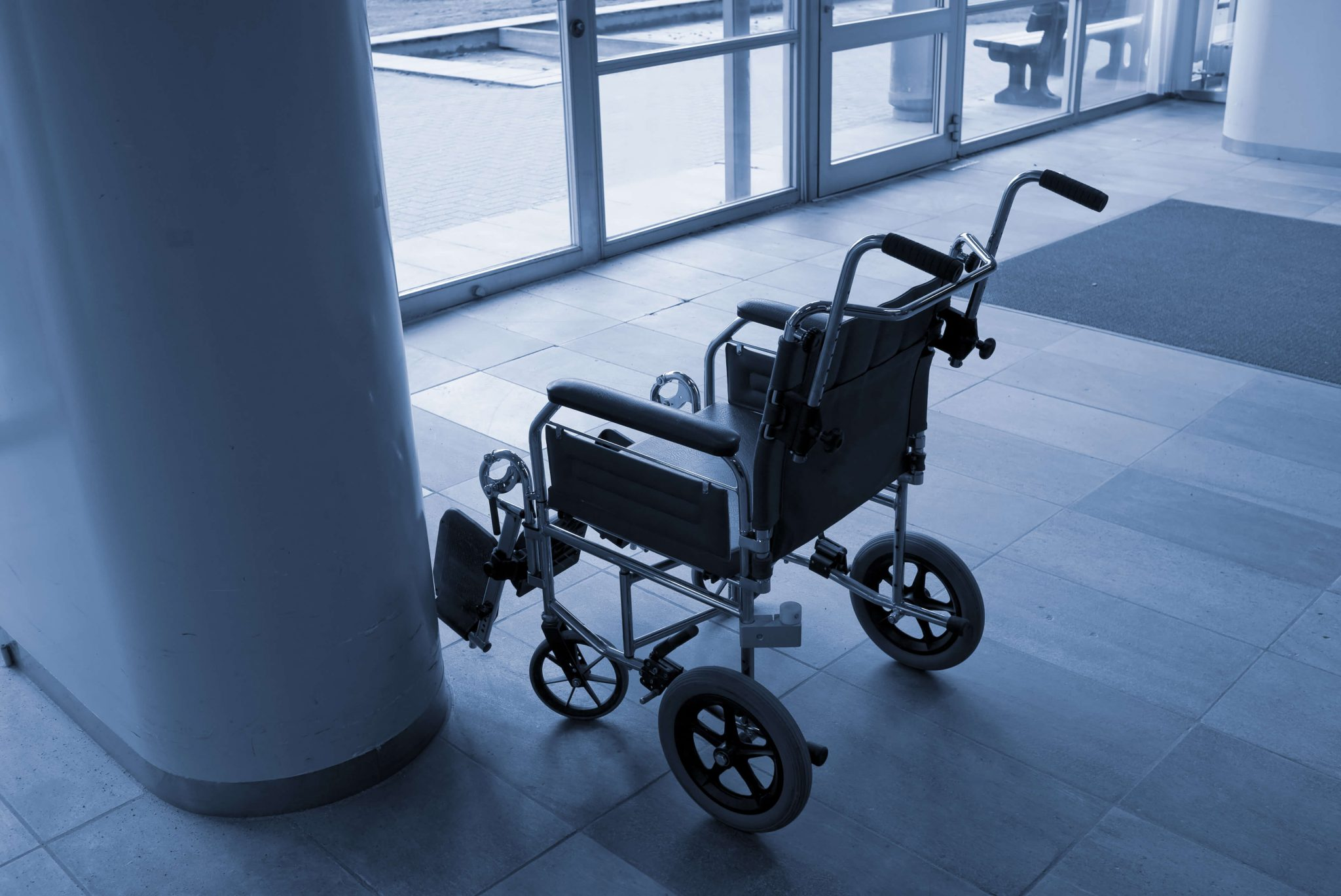 Empty Wheelchair in Philadelphia Hospital