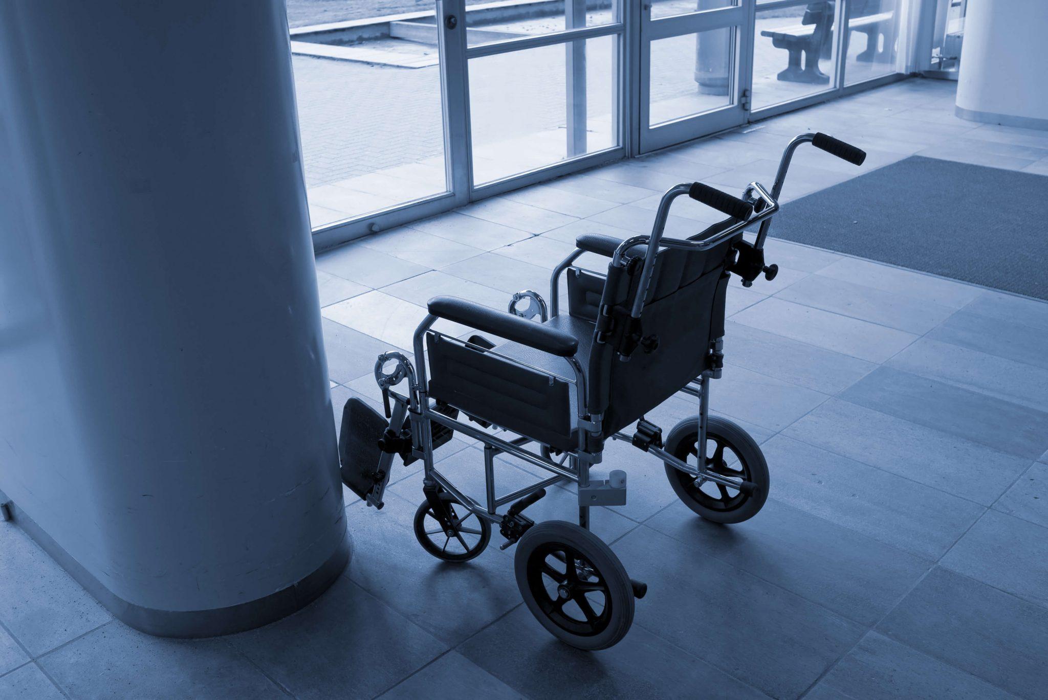 Empty Wheelchair in Philadelphia Hospital