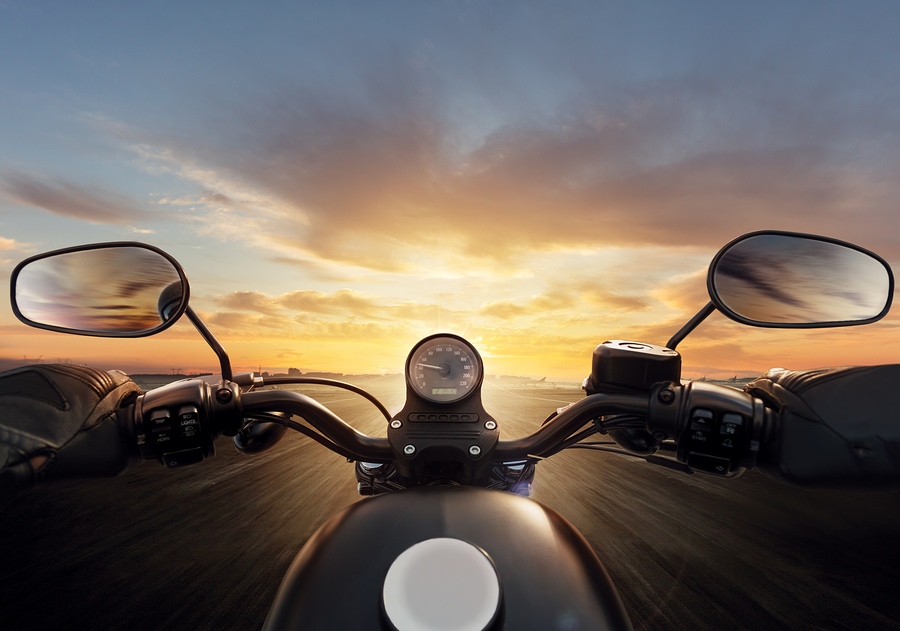 Picture of motorcycle POV
